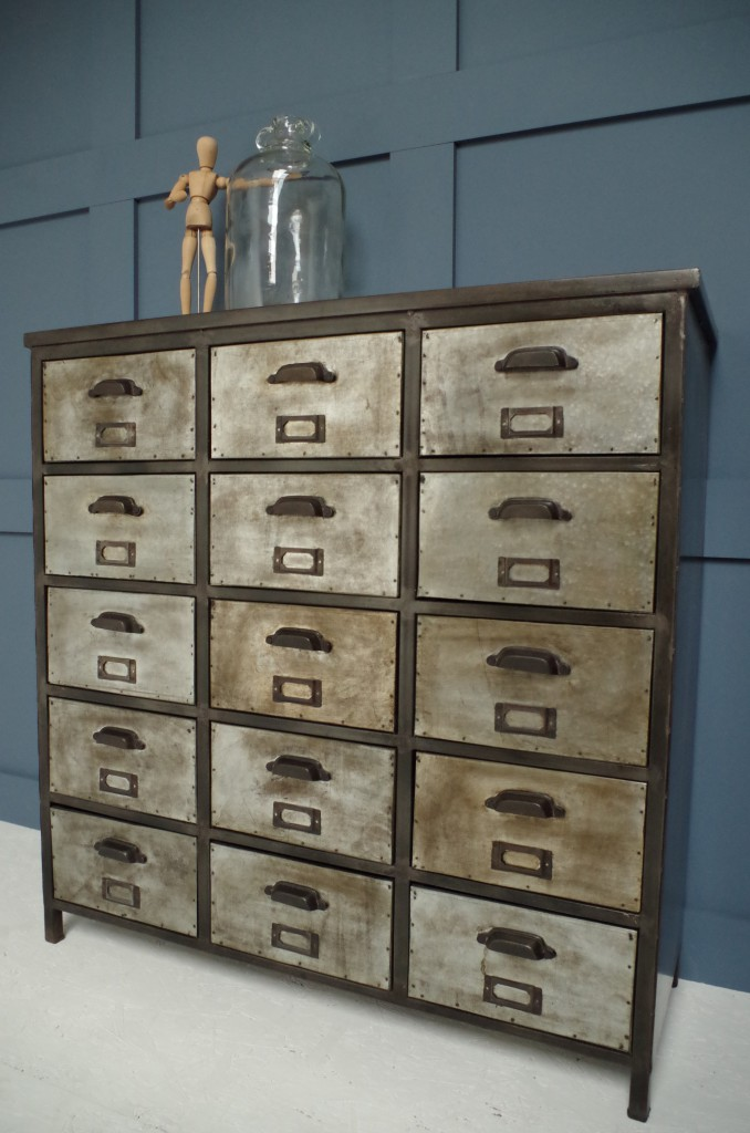 Mid Week Chic - 15 Drawer Iron Unit