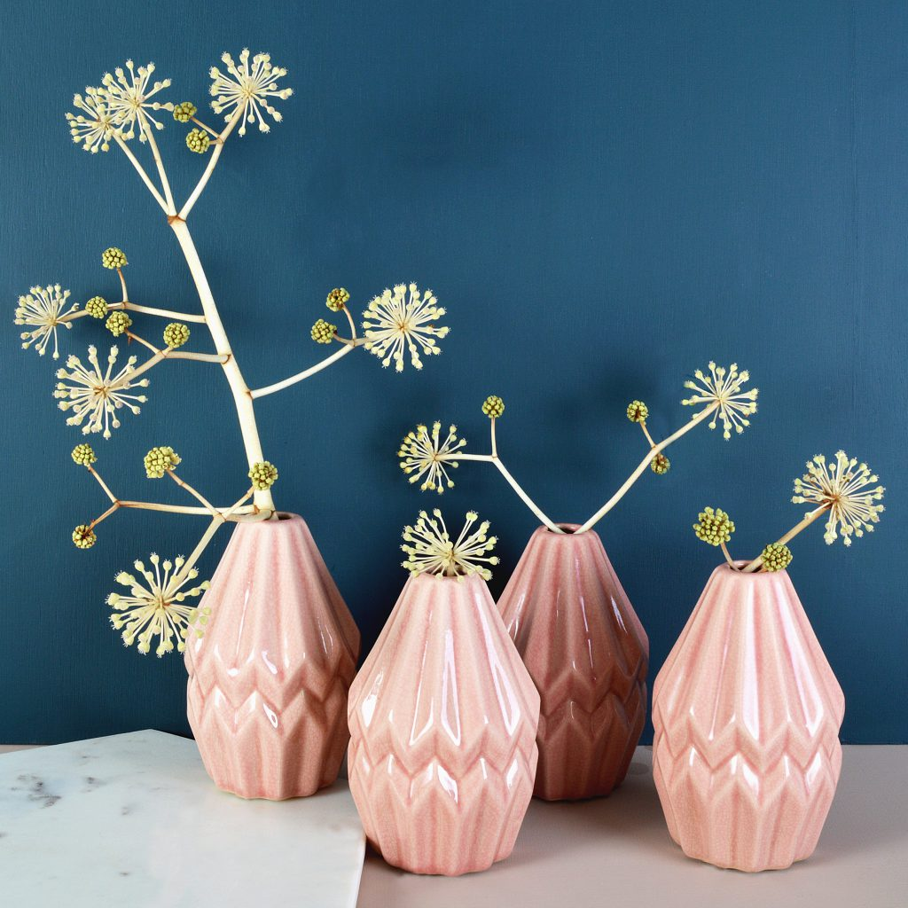 Mid Week Pantone - Rose Geometric Bud Vase
