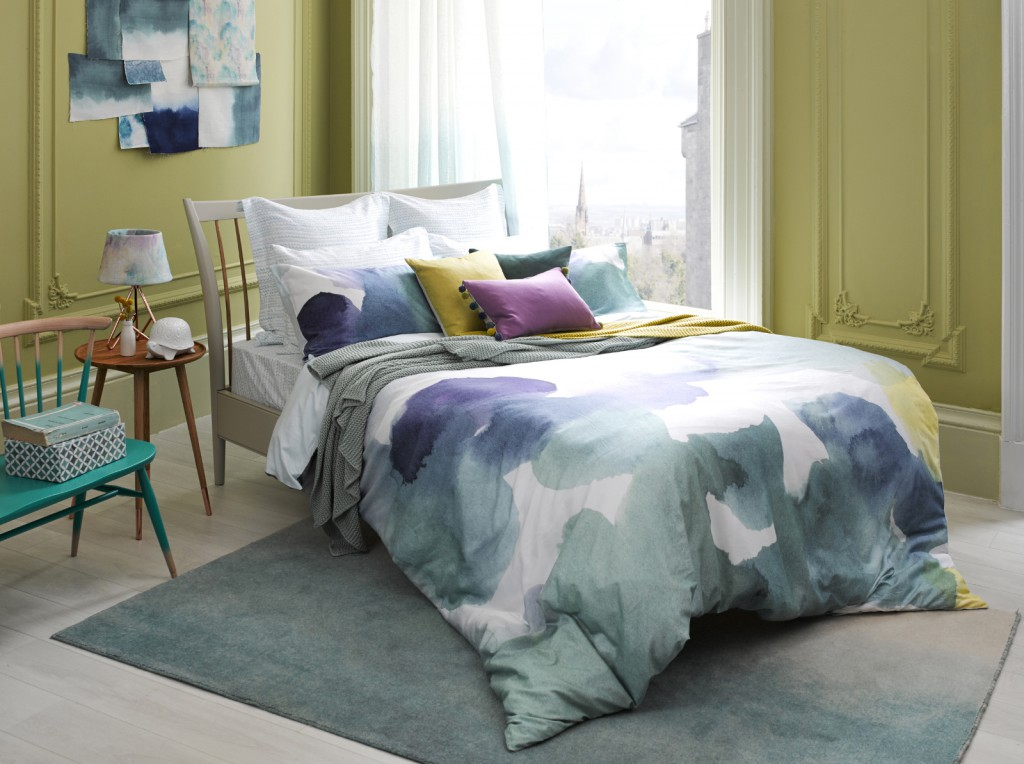 Mid Week Bed - Bluebellgray Canna Bed Linen 220TC Sateen