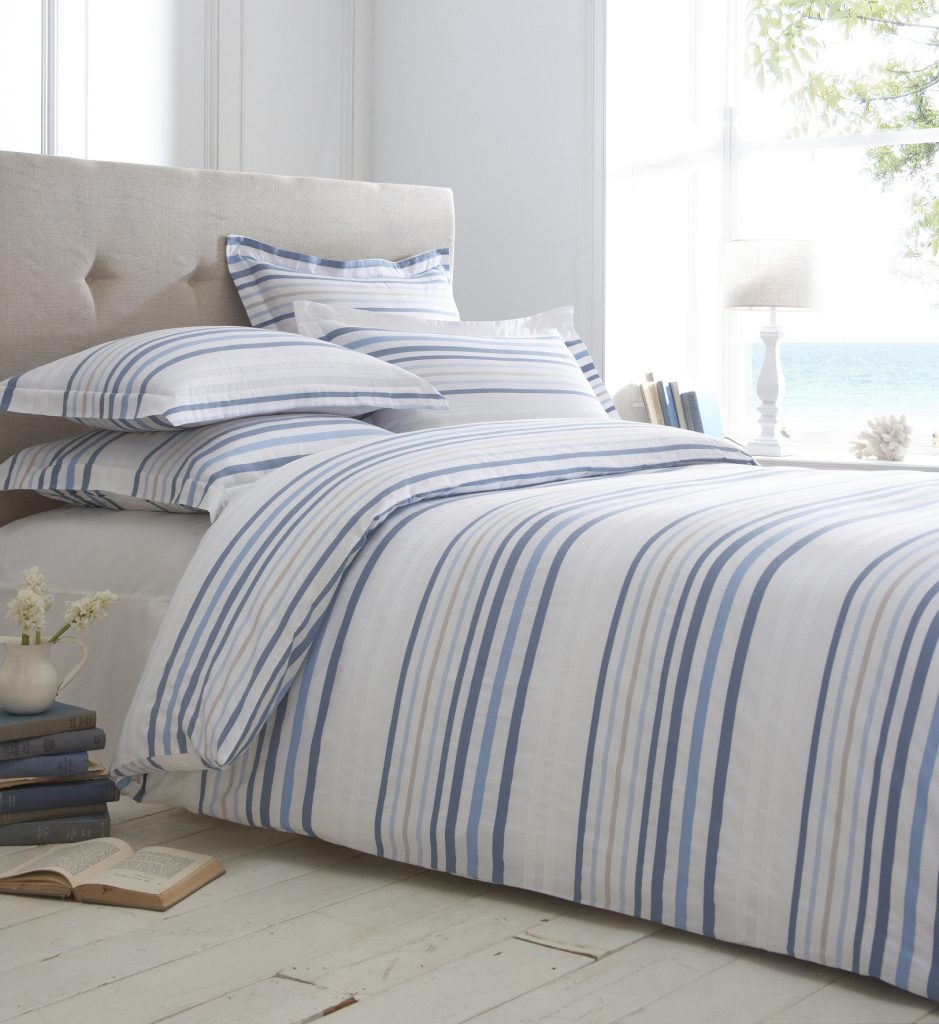 Boston Stripe Bedding from £5.70 www.thefinecottoncompany.com 0845 602 9050