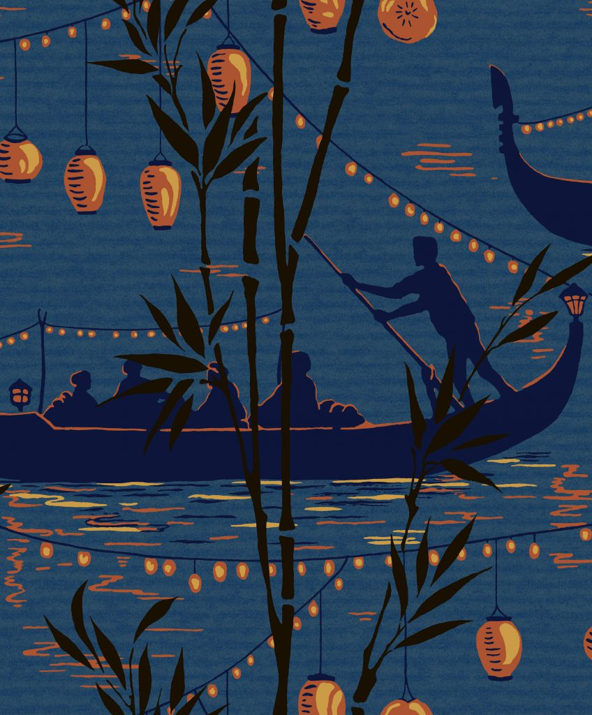 Mid Week China - Gondola wallpaper from the Cole & Son Frontier Collection