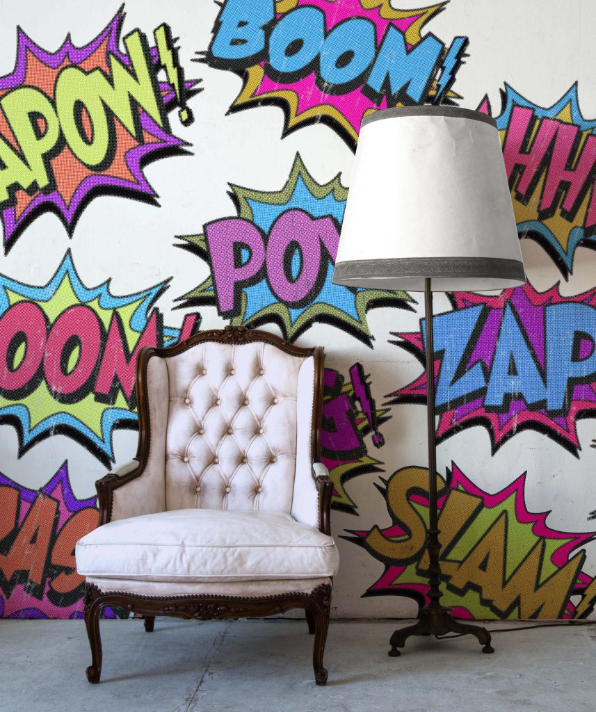 Comic Pop Wallpaper Mural from Digitex Home