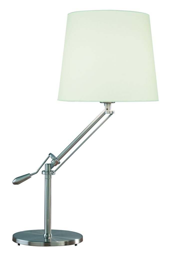 Infusion Table Lamp in Satin Chrome £107.40 www.darlighting.co.uk
