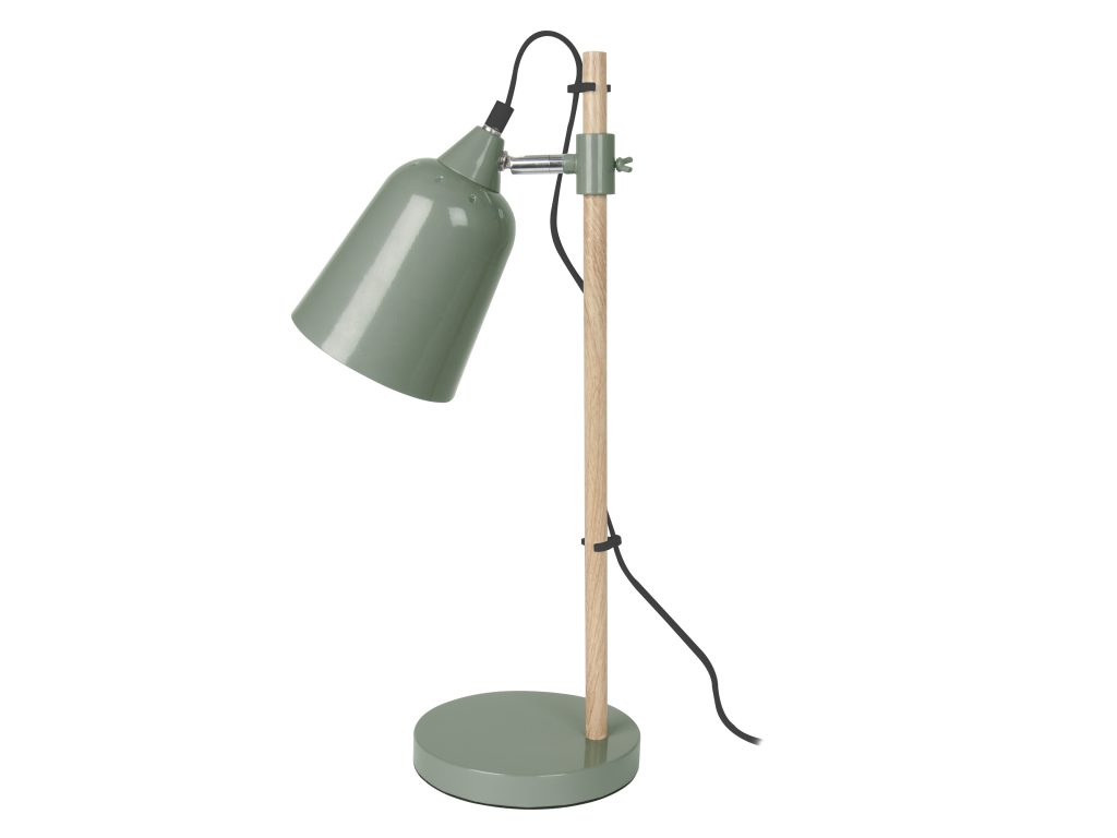 Wooden Stem Table Lamp in Green £39 www.marquisanddawe.co.uk
