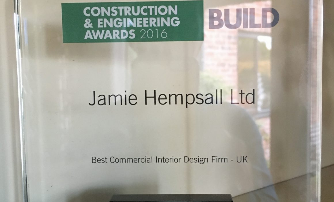 Construction and Engineering Awards 2016 - Best Commercial interior Design Firm: UK