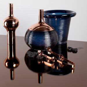 Tom Dixon Plum Glass & Copper Ice Bucket £200 with Plum Cocktail Shaker £95 from John Lewis