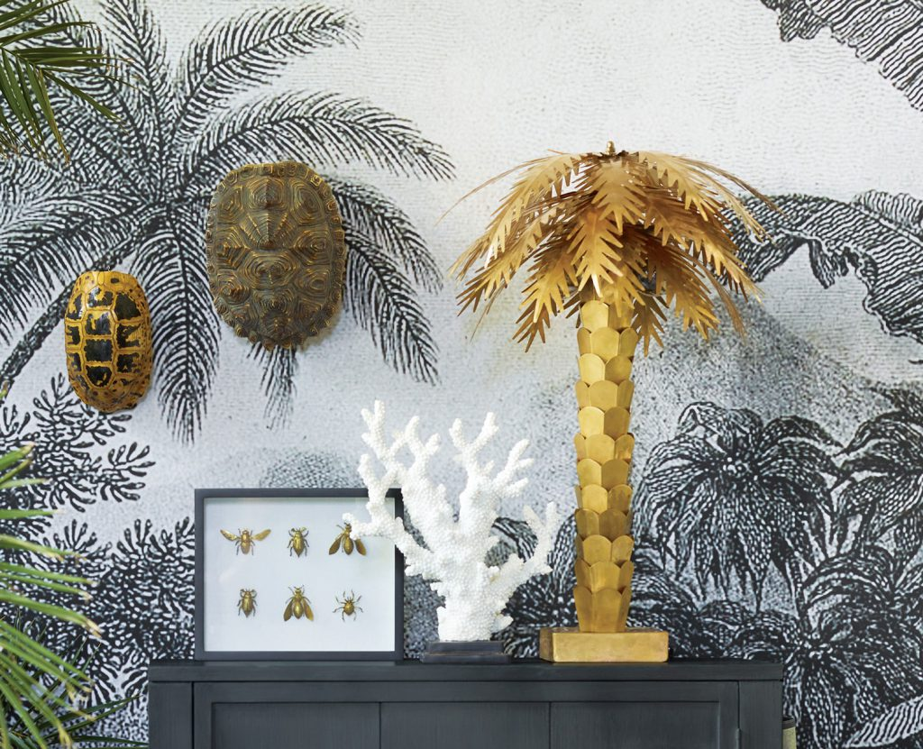 Palm Tree Solid Brass Table Lamp £295 www.cuckooland.com