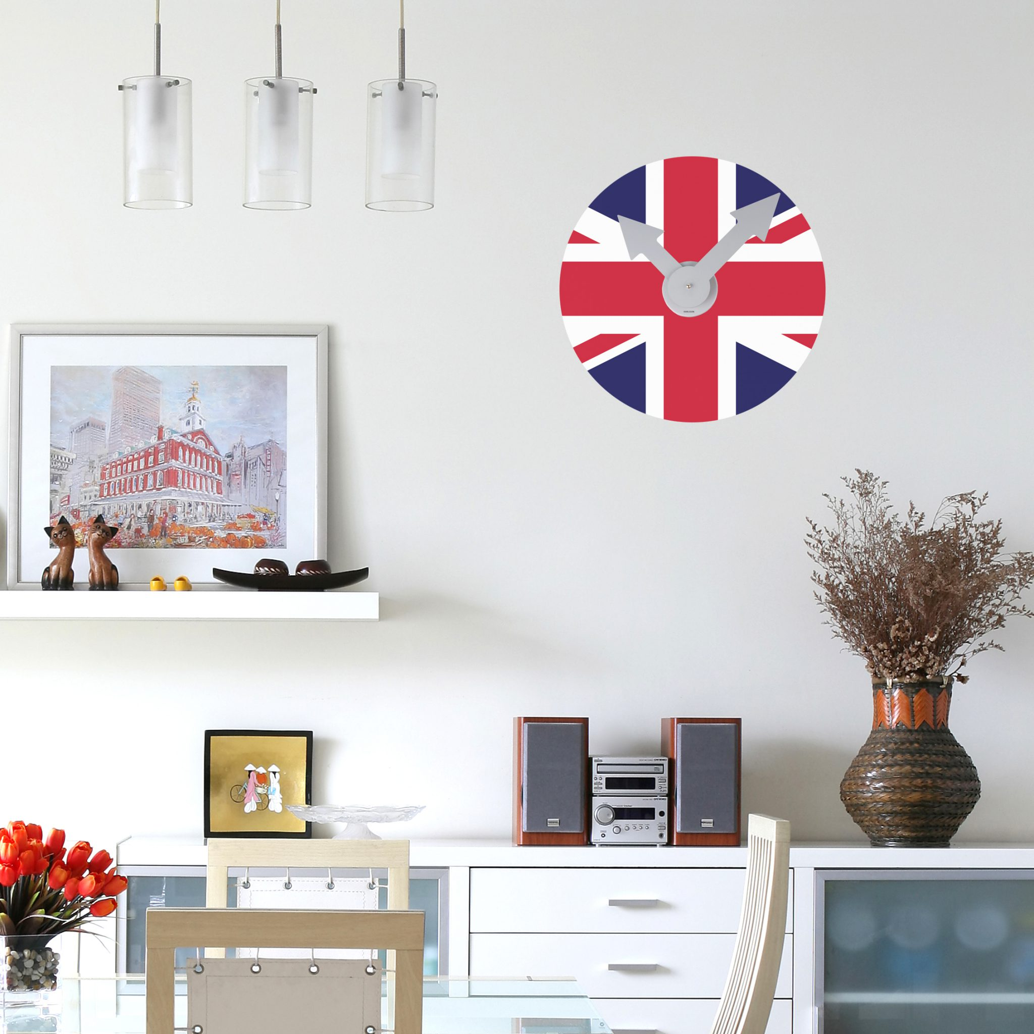 Mid week flag union jack clock wall sticker with mechanism mid week flag union jack clock wall sticker with mechanism from spin collective gbp40 jamie hempsall amipublicfo Images