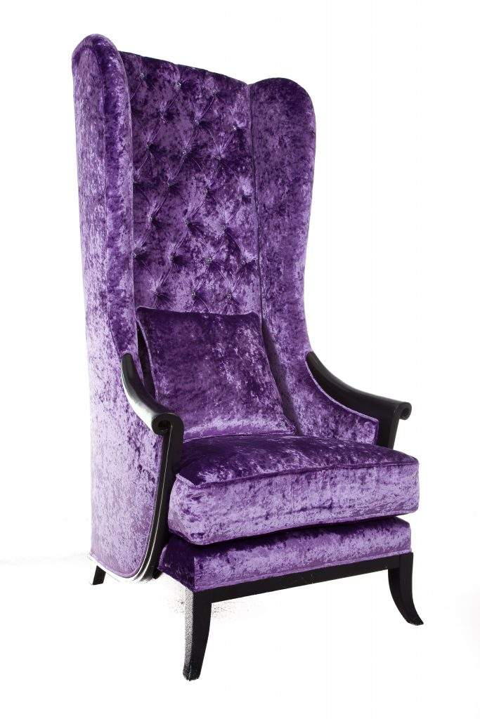 Mid week gothic purple high back chair gbp2000 www for Chair design 2000